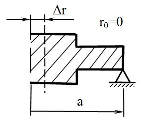 пластинка,  не имеющая центрального отверстия (не кольцевая, сплошная)