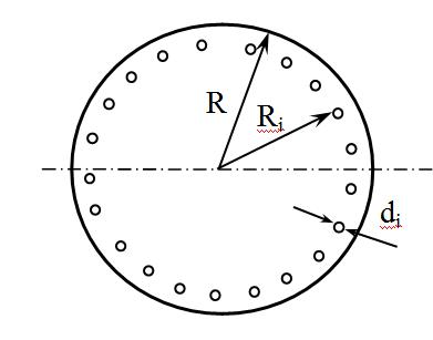 Перфорированная круглая пластинка
