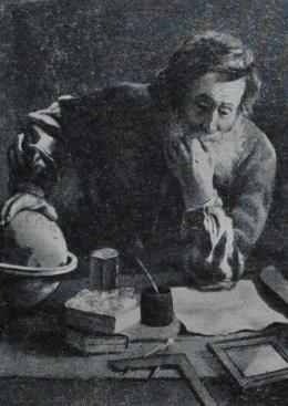 Архимед (287—212 гг. до нашей эры) (Репродукция с картины Д. Фети, хранящейся в Дрезденской галерее)