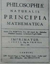 Титульный лист первого издания (1687г.) работы И. Ньютона «Математиче ские принципы натуральной философии»